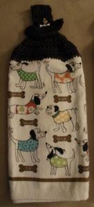 Crochet towel - dogs