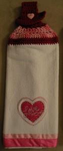 Crochet towel - Heart