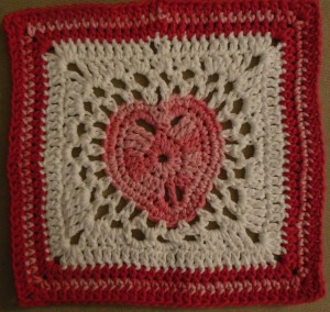Valentine washcloth 4