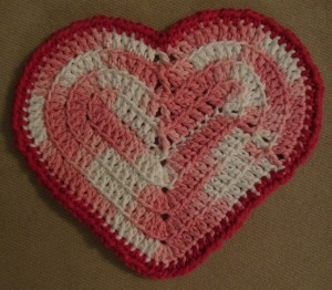 Valentine washcloth 5