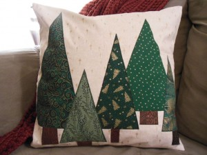 Tree pillow square