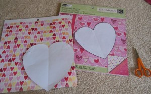 Heart garland - tracing patterns & paper