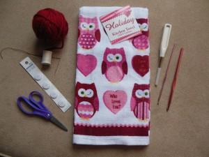 crochet hanging towel - materials