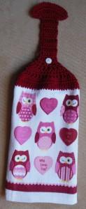 crochet hanging towel - complete
