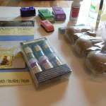 Glitter eggs - supplies