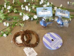 Bird napkin rings - materials