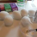 Glitter eggs - painted