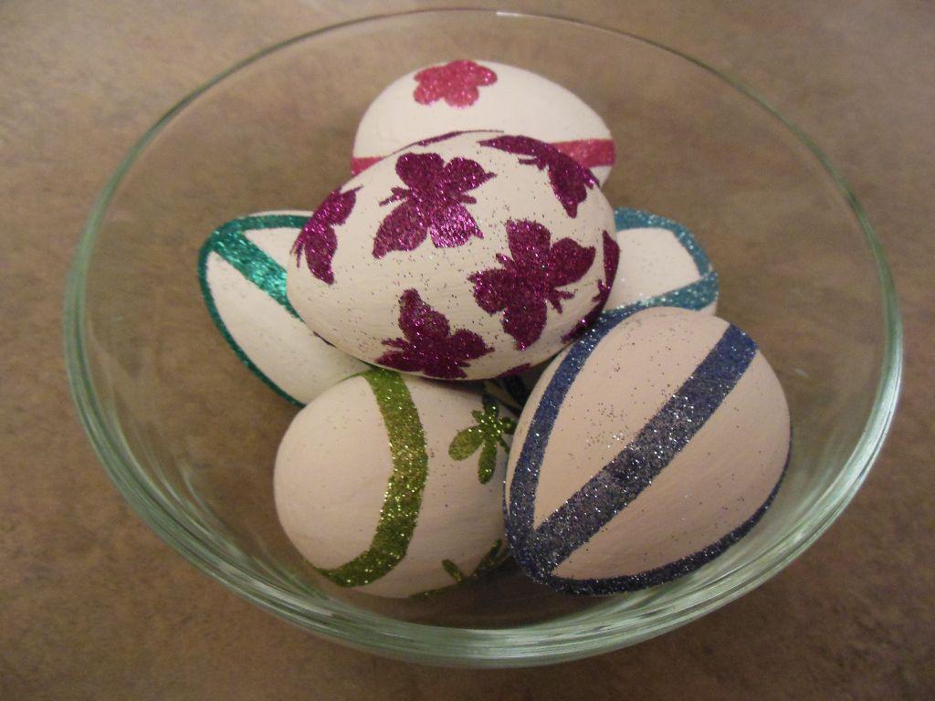 Glitter eggs - finished