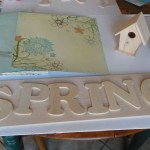 Spring sign - before