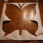 Butterfly canvas - butterfly cutout