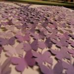 Butterfly canvas - closeup