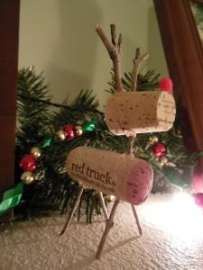 Wine Cork Reindeer 1