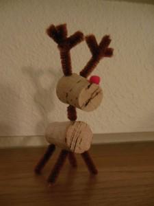 Wine cork reindeer 2