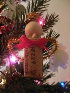 Wine cork angel