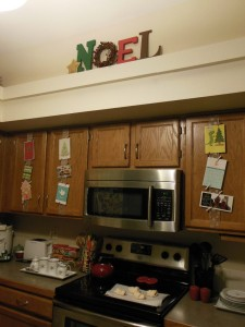 NOEL sign in kitchen