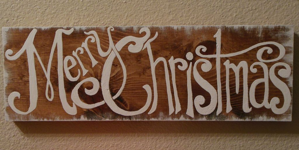 """Merry Christmas"" sign"