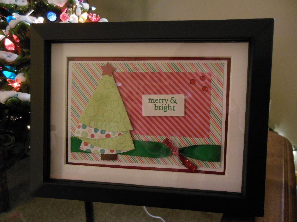 Framed Christmas Card