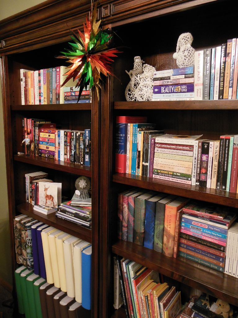 Christmas Bookshelves 2014