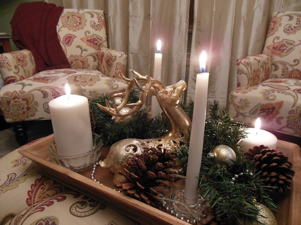 Jane Austen Christmas 2014 - tray and chairs