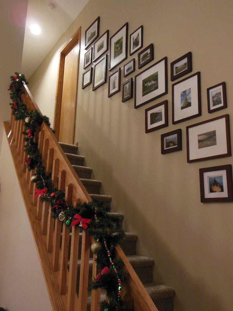 Garland on Stairs 2014