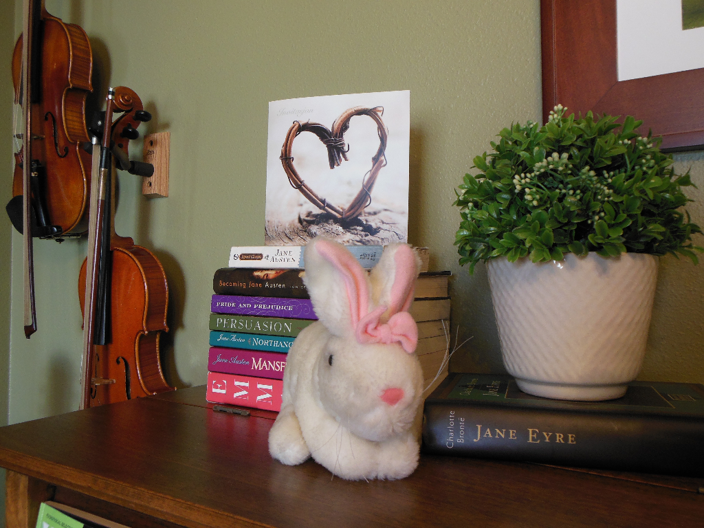 Bunny on piano spring 2015
